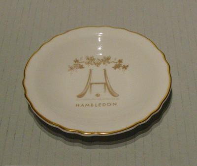 Plate, Hambledon design; Domestic items; M5169.3