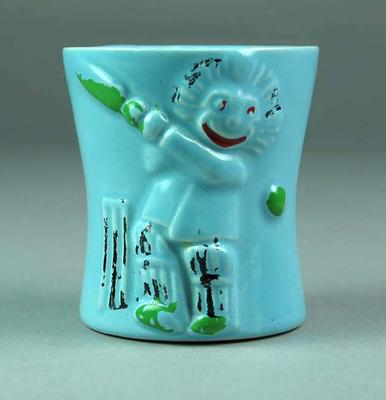 Egg cup, image of boy cricketer