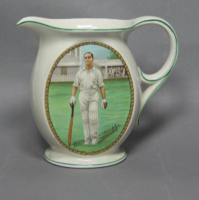 Jug:  image of cricketer Herbert Sutcliffe