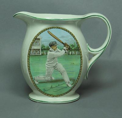 Jug, image of cricketer Donald Bradman