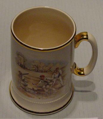 Arthur Wood Sport Series mug with cricket design