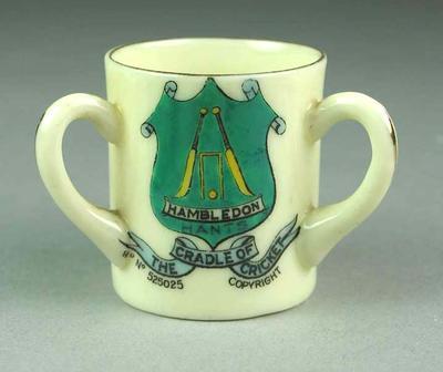 Miniature mug, Hambledon - The Cradle of Cricket