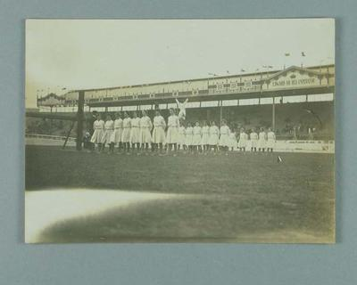 Photograph of a women's gymnastic display at 1908 Olympic Games