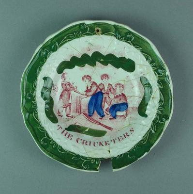 """Plate, """"The Cricketers"""""""