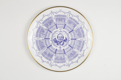 Plate, details career of Geoffrey Boycott