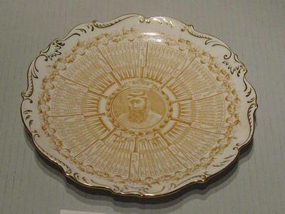 Coalport Century of Centuries plate featuring W G Grace