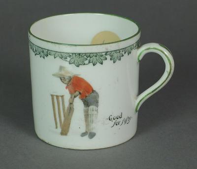 """Mug, """"Good for fifty"""""""