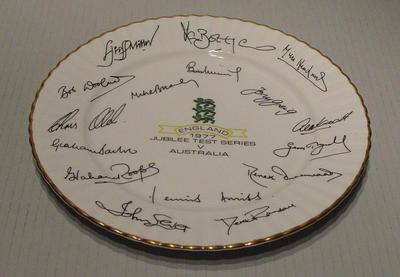 Plate, England v Australia - Jubilee Test Series 1977