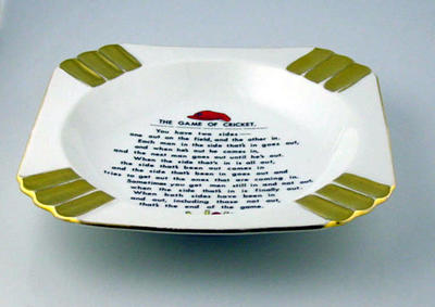 """Ashtray, """"The Game of Cricket"""""""