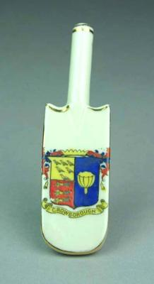 Miniature cricket bat, Crowborough logo