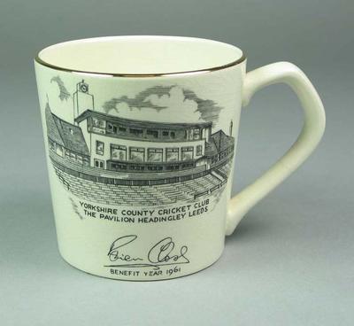 Mug, Yorkshire County Cricket Club - Brian Close Benefit Year 1961