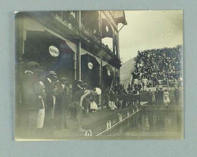Photograph of the swimming pool used for 1920 Olympic Games