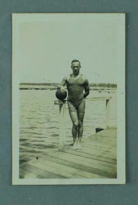 Photograph of Frank Beaurepaire, taken at the Crawley Baths in Perth