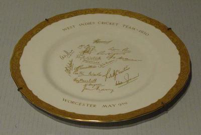 "Plate, ""West Indies Cricket Team 1950"""
