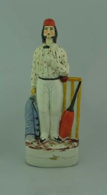 Ceramic Staffordshire figurine of George Parr, 1850
