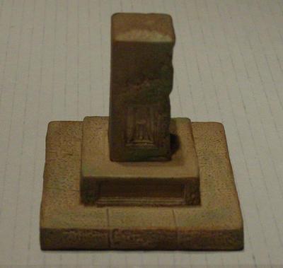 Small plaque model of the Hambledon Cricket Club memorial stone