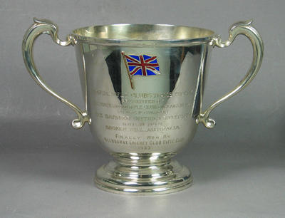 Empire Rifle Club Teams Trophy presented by North London Club 1928 won MCCRC  1933; Trophies and awards; M6707.1