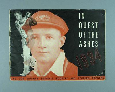 "Booklet, ""In Quest of the Ashes - 1934"""