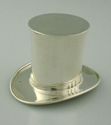 Small silver Top Hat - cricket trophy