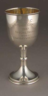 M.C.C. Autumn Champ. Special Doubles won by C.S. Buckley T.E. Robinson 1927