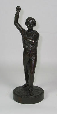 Bronze cricket figure sculpted by J. Durham, c. 1863; Domestic items; Artwork; M6765