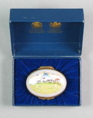 Patch box - Commemorating the Bicentenary Marylebone Cricket Club 1787-1987; Clothing or accessories; M6795
