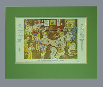 """Print, """"Syd Miller's Impressions of Australian Cricketers"""" - 1930"""