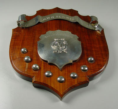 Shield - MCC Autumn Singles Championship presented by A.W. Dunlop, 1912-13