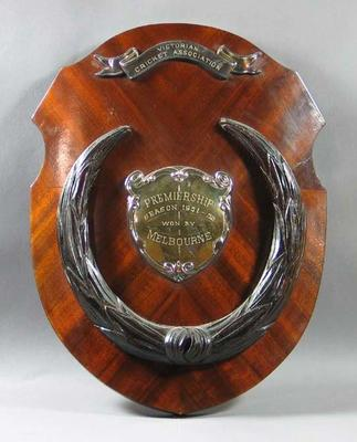 Shield - Victorian Cricket Association Premiership Season1951-52 won  by Melbourne; Trophies and awards; M6845