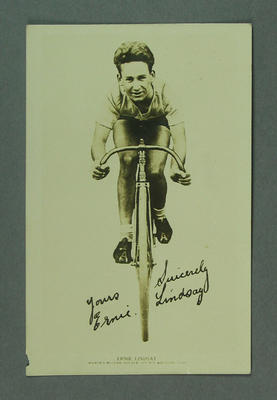 Photograph of Ernie Lindsay, c1920s-30s
