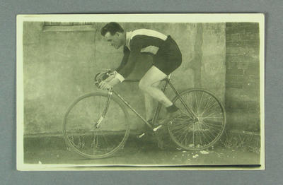 Photograph of cyclist, c1920s-30s