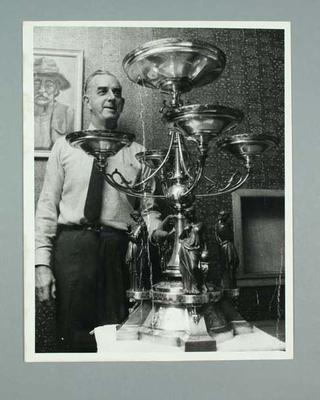 Photo of George Plant with Briscoe Trophy