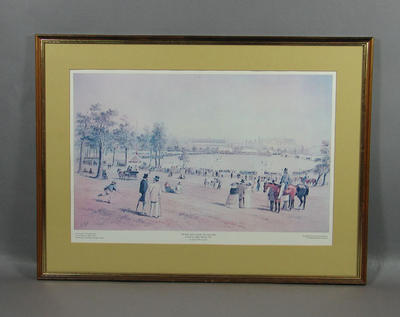 "Print, ""The First Cricket match, New South Wales"" by S T Gill 1857"