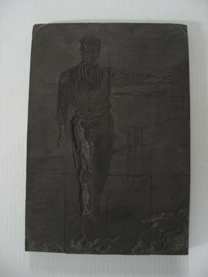 Original woodblock by J. Gooding, engraving of cricketer G.F. Tarrant c. 1863