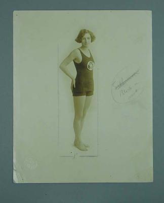 Photograph of Sybil Bower, American backstroker