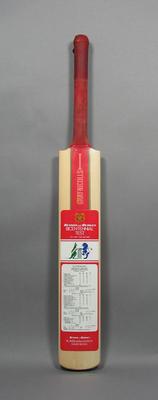Autographed Benson & Hedges Bicentennial Test Match Bat 1988