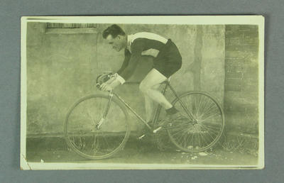 Photograph of cyclists, c1920s-30s