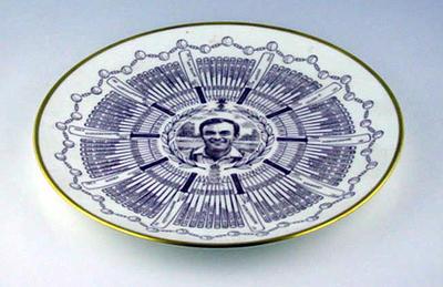 Century of Centuries plate featuring cricketer J.H. Edrich