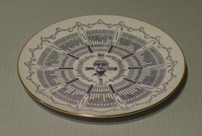 Century of Centuries plate featuring cricketer W.R. Hammond