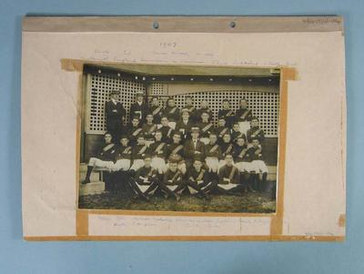 Formal photograph of the Albert Park Football Club, 1907