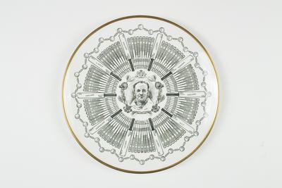 Century of Centuries plate featuring cricketer Don Bradman