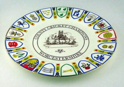 County Cricket Champions: 1974 Worcestershire County Cricket Club commemorative plate