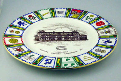County Cricket Champions: 1976 Middlesex County Cricket Club commemorative plate