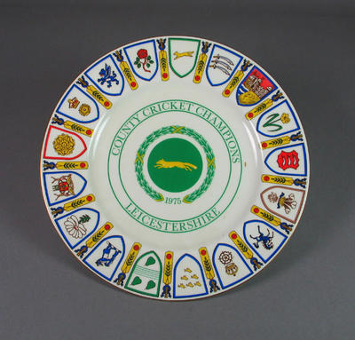 County Cricket Champions: 1975 Leicestershire County Cricket Club commemorative plate
