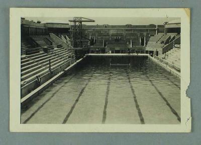 Photograph of the 1924 Paris Olympic Games swimming pool