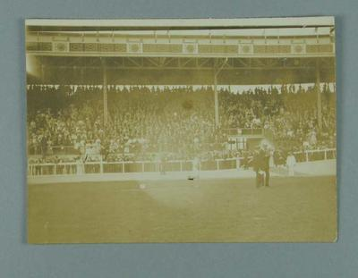 Photograph of the 1908 Olympic Games stadium grand stand