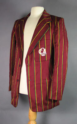 Queensland cricket team blazer with QCA monogram,  worn by Peter Burge