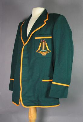 Australian Cricket Team Blazer 1957, worn by Peter Burge