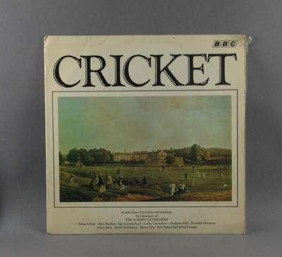 "Record cover, ""Cricket"" - Lord's Taverners"