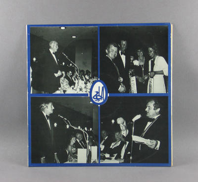"Record cover, ""The Primary Club of Australia Inaugural Dinner"" - 18 November 1974"